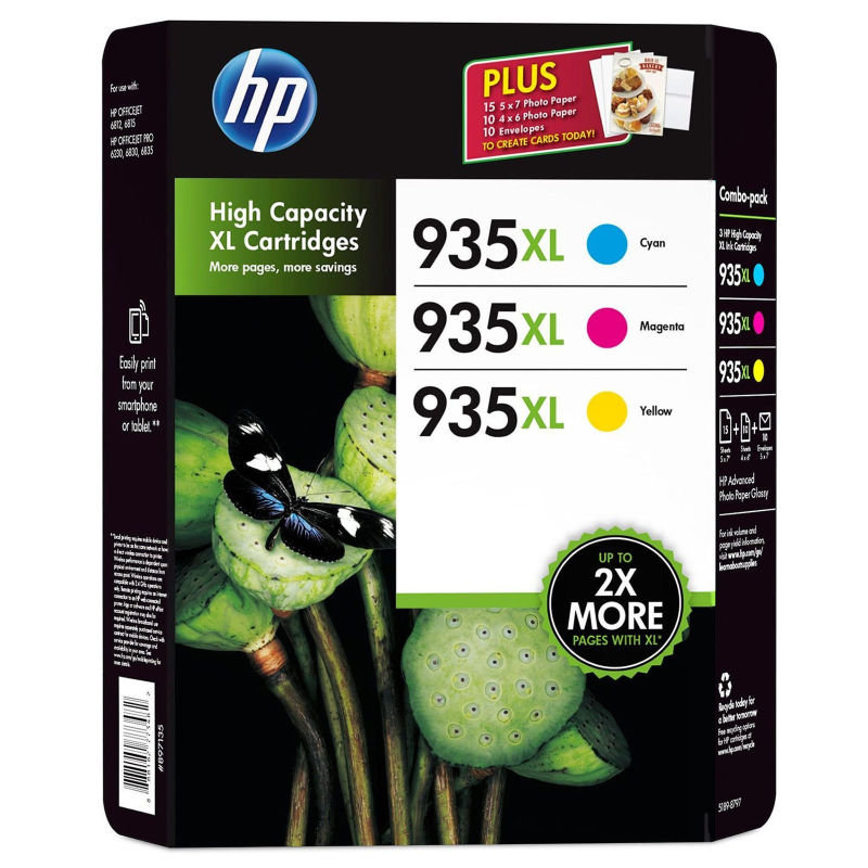 HP 935XL Officejet Value Combo Pack - F6U78AE