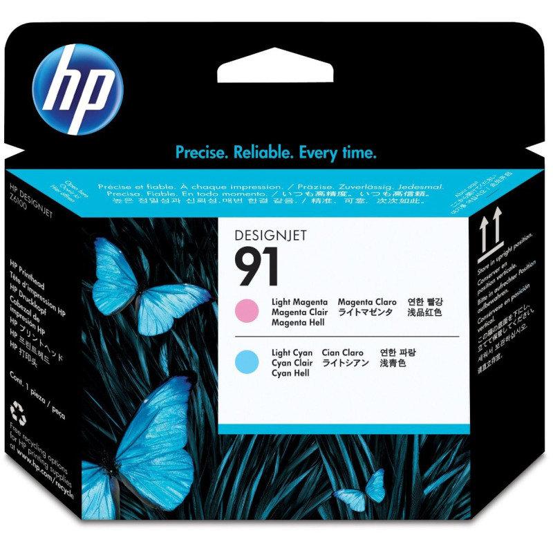 HP 91 Light Magenta & Light CyanValue Pack Ink Cartridge & Printhead - Standard Yield775ml - P2V37A