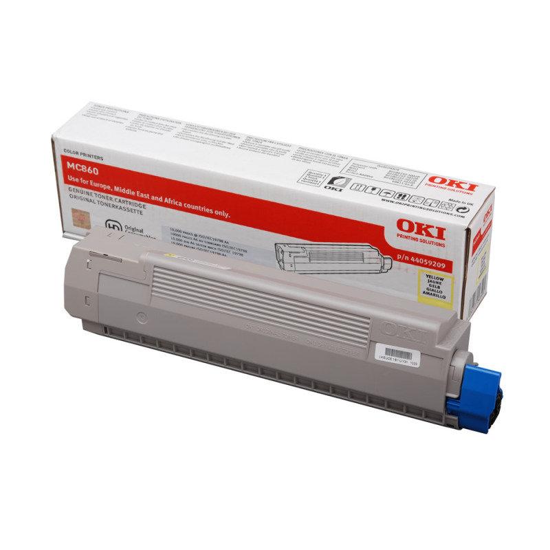 Oki Yellow Toner Cartridge (10,000 Page Capacity) 44059209