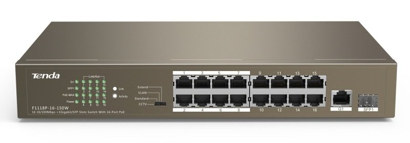 Tenda TEF1118P - 16-Port PoE Switch