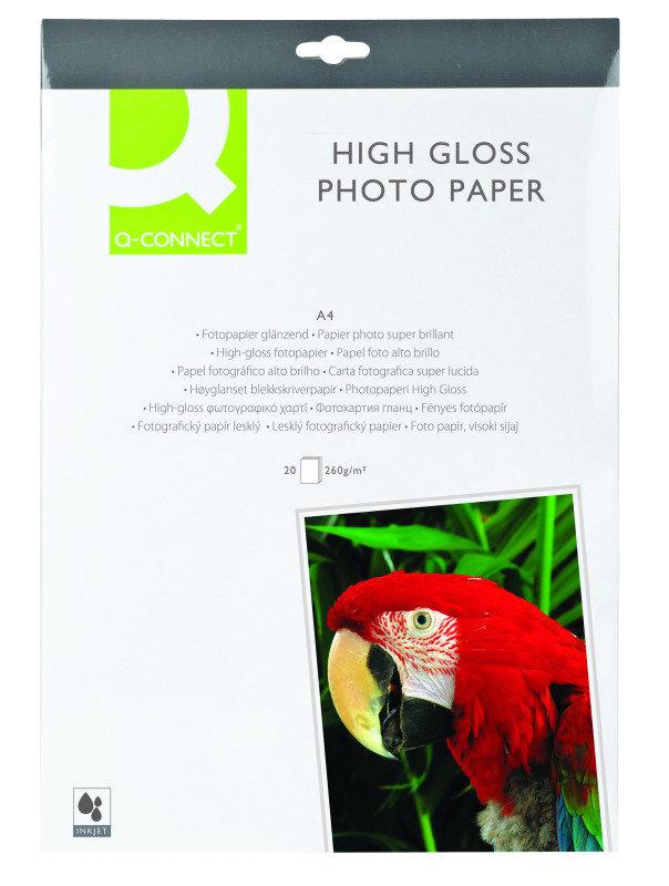 Q-Connect Photo Paper High Gloss A4 260G WHT P20