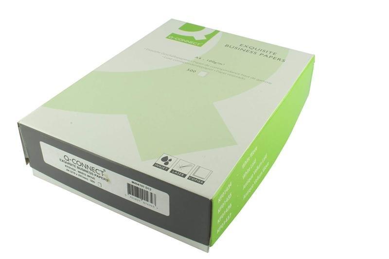 Q CONNECT A4 100GM LAID WHITE PK500