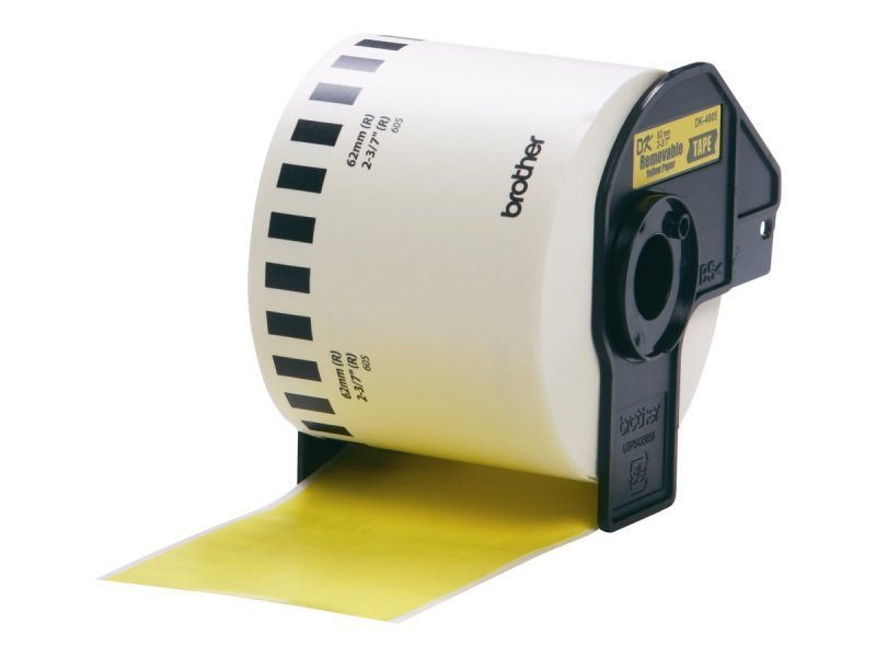 Brother DK44605 Removable adhesive labels - Yellow