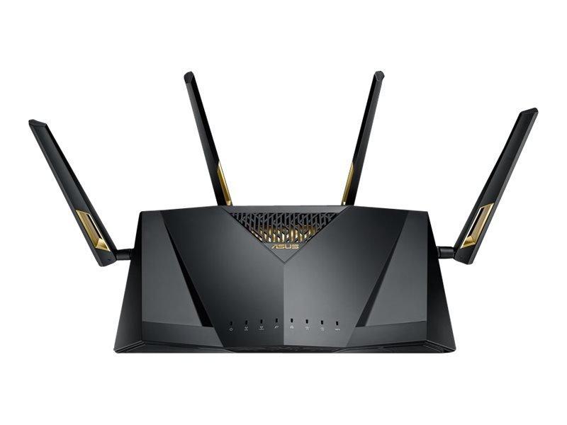 Asus RT-AX88U AX6000 Dual Band WiFi 6 (802 11ax) Router MU-MIMO OFDMA  technology, AiProtection Pro Adaptive QoS