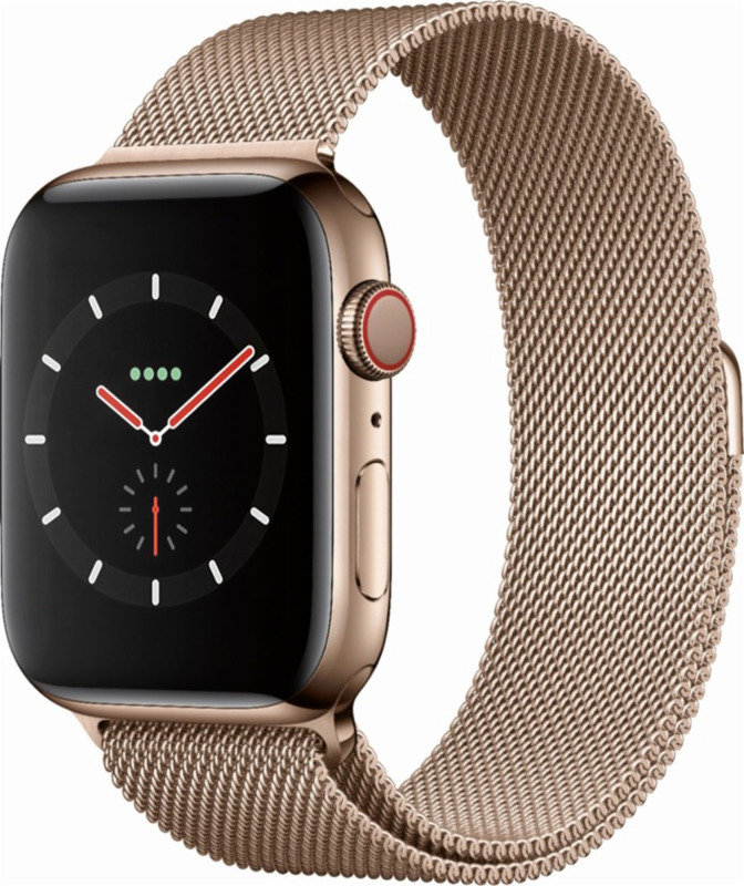 Apple Watch Series 4 GPS + Cellular, 44mm Gold Stainless Steel Case with Gold Milanese Loop cheapest retail price
