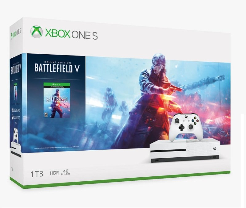 Xbox One S 1TB with Battlefield V