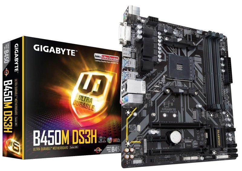 Exdisplay Gigabyte B450M DS3H AM4 DDR4 mATX Motherboard