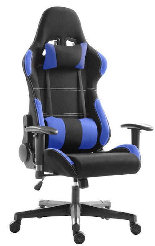 Phenomenal Eg Premium Gaming Chair Blue And Black Fabric Creativecarmelina Interior Chair Design Creativecarmelinacom