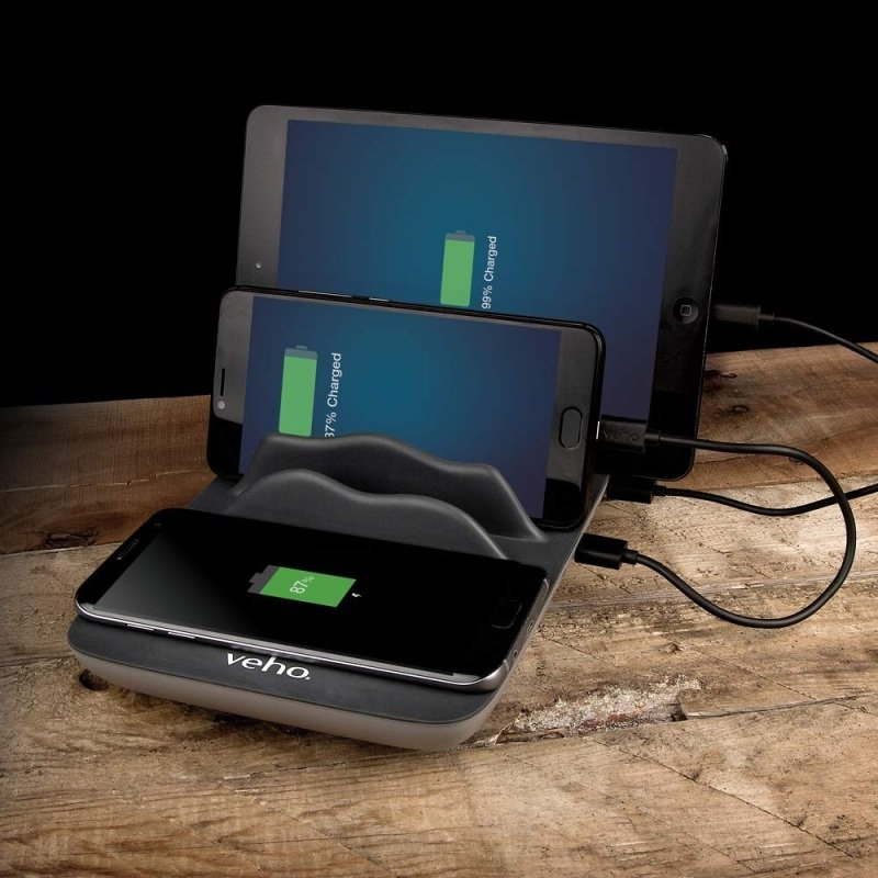 Veho TA-7 4 Port Charging Hub with Wireless Charging