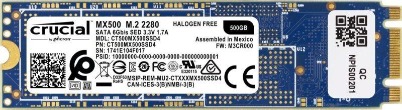 Crucial MX500 M 2 2280 500GB SSD