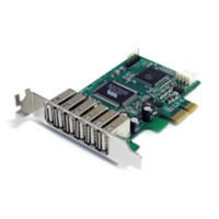 StarTech.com 7 Port PCI Express Low Profile High Speed USB 2.0 Adapter Card