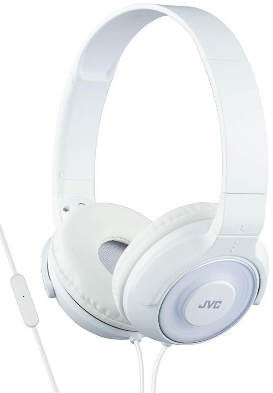 JVC Lightweight White Headphones