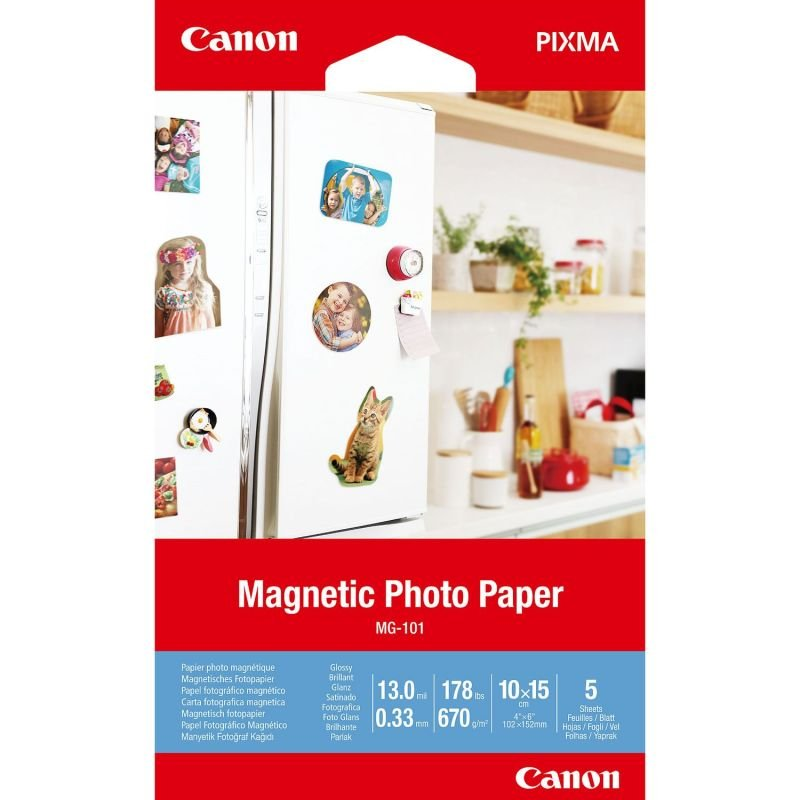 Canon Magnetic Photo Paper MG-101 4x6in (Pack of 5)