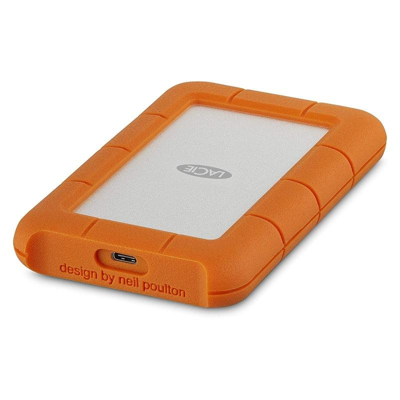 Image of Lacie 2TB Rugged USB-C Portable Hard Drive