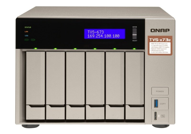 QNAP TVS-673e-8G 36TB (6 x 6TB WD ULTRASTAR) 6 Bay NAS with 8GB RAM