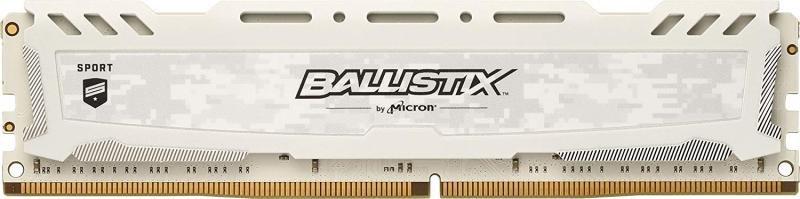 Crucial Ballistix Sport LT White 4GB DDR4 2400 MT/s Memory BLS4G4D240FSC