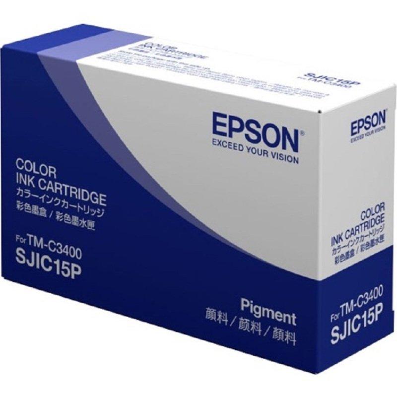 Genuine Tri-Colour Epson SJIC15P Ink Cartridge