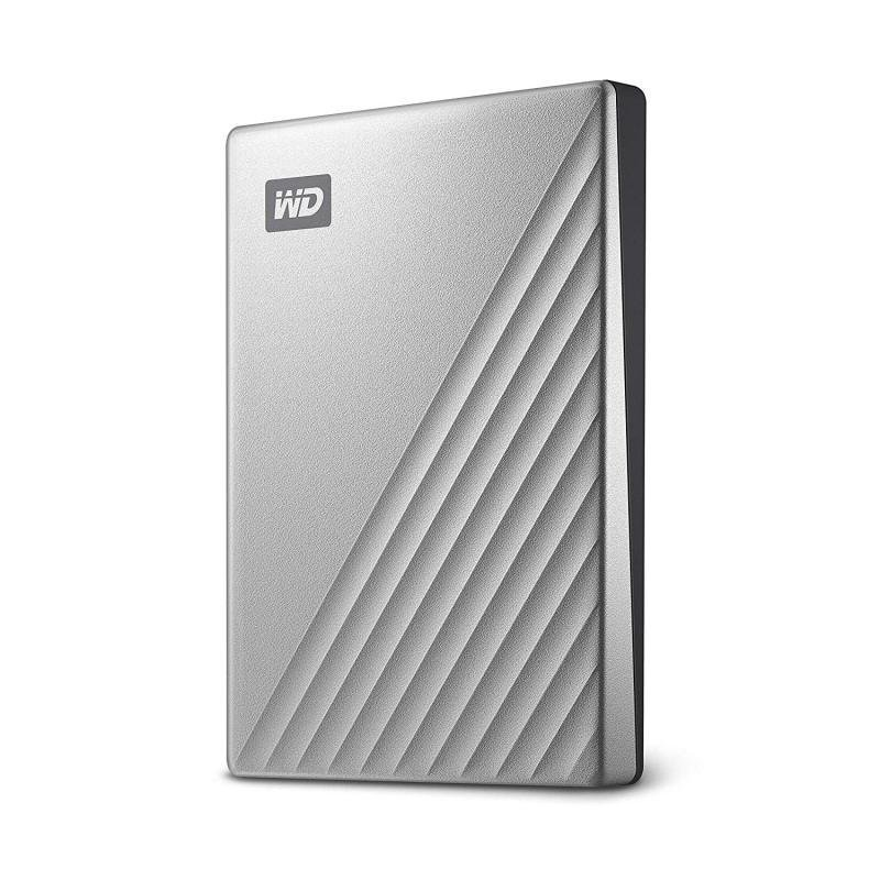 WD My Passport Ultra Silver 4TB Portable Hard Drive