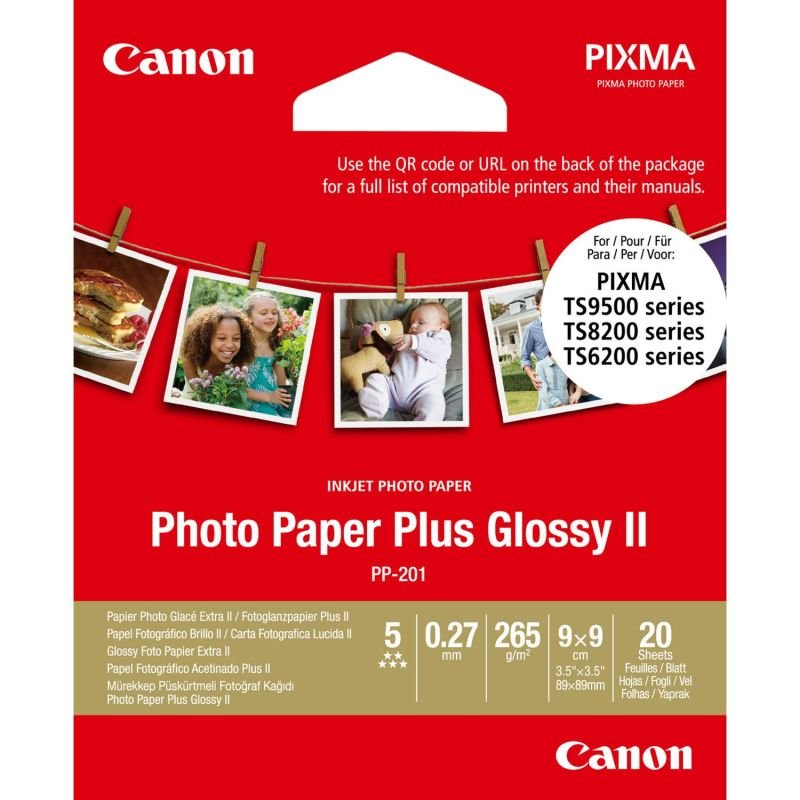 Canon Photo Paper Plus PP-201 3.5x3.5in (Pack of 20)