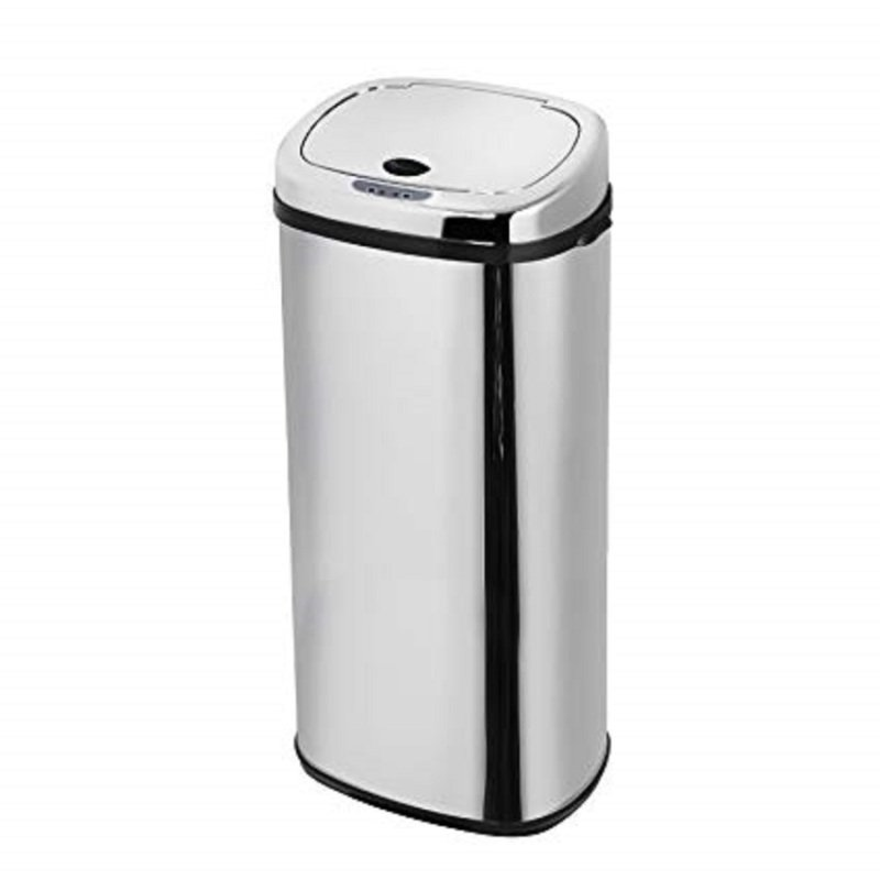Morphy Richards 971519 50l Square Sensor Bin S/steel