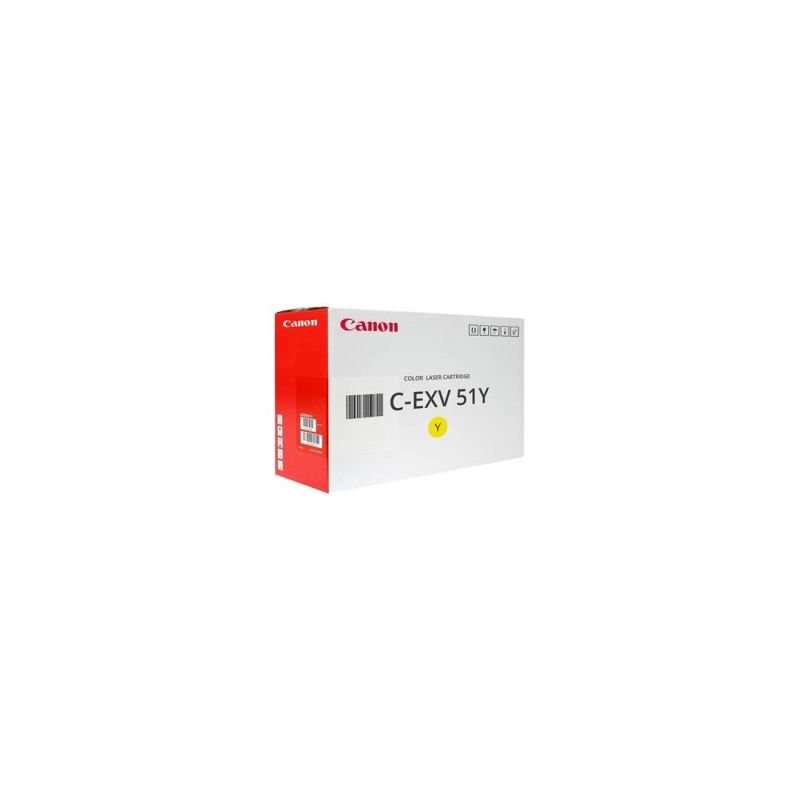 Canon 0484C002 C-EXV51 Yellow Toner Cartridge