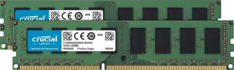 Crucial 8GB Kit (2 x 4GB) DDR4-2400 UDIMM Memory