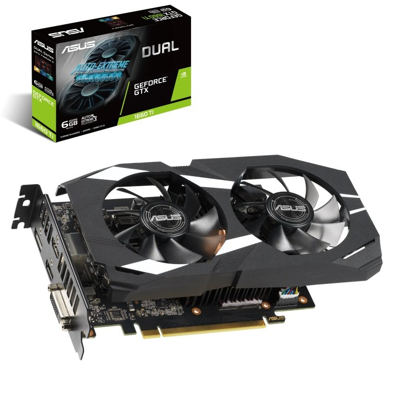Asus GeForce DUAL GTX 1660 Ti 6GB OC Graphics Card