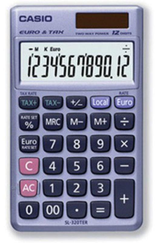 Casio SL-320TER Pocket Calculator
