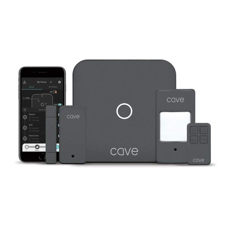 Cave Smart Home Wireless - Alarm System Starter Kit