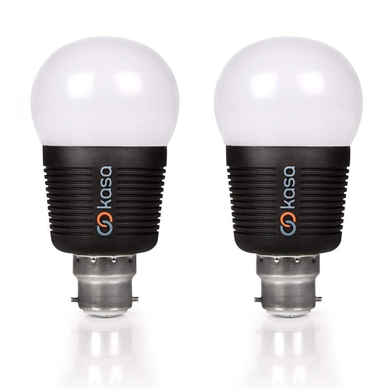 Veho Kasa Bluetooth Smart LED Light Bulb B22 Twin Pack