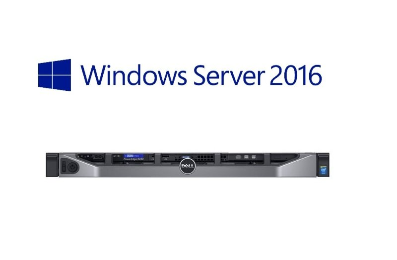 Dell PowerEdge R230 Xeon E3-1220V6 3 GHz 8GB RAM 1TB HDD 1U