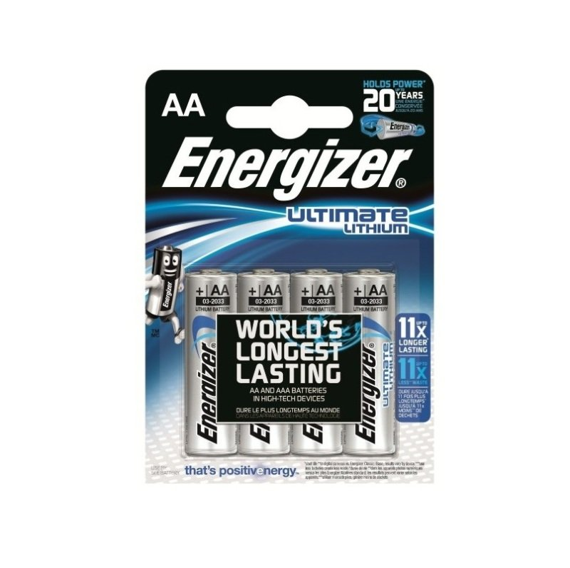 Energizer Ultrimate Lithium Battery Aa Pk4