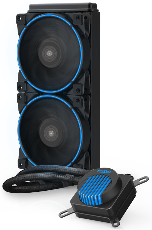 EG 240C Corona 240MM Water Radiator with Blue Cooling Fans
