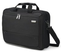 DICOTA Top Traveller ECO Dual Laptop Bag 15.6 Black. Cushioned HDF (High-Density Foam) and lockable notebook compartment. 2-way combo case (Toploader case & backpack). It is mainly made of recycled PET. Lifetime Warranty. Top loader bag suitable for lapto