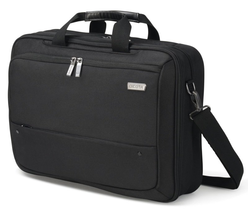 ecb66d62ed5a DICOTA Top Traveller ECO Dual Laptop Bag 15.6 Black. Cushioned HDF  (High-Density Foam) and lockable notebook compartment. 2-way combo case  (Toploader case ...