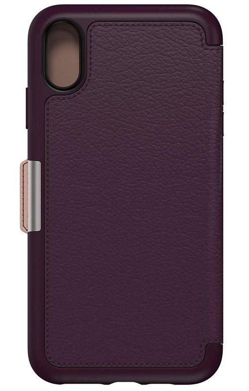 purchase cheap cc599 8e0de OtterBox Strada Series Folio Case Purple for iPhone Xs Max