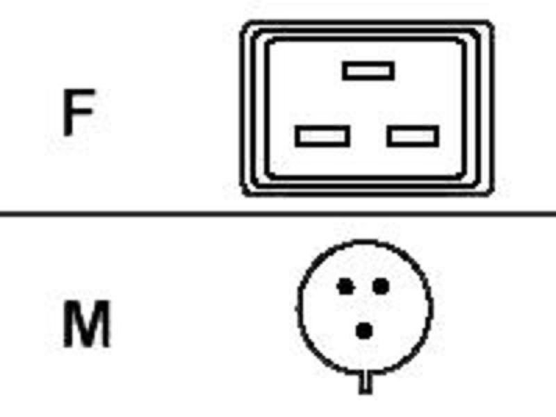 APC Power Cable C19 to IEC309 16A APC AP9876