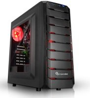 EXDISPLAY PC Specialist Vanquish Redline Gaming PC AMD Athlon 200GE 3.2GHz 8GB DDR4 1TB HDD No-DVD AMD VEGA WIFI Windows 10 Home 64 Bit