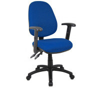 Vantage 100 Two Lever PCB Operator Chair With Adjustable Arms - Blue