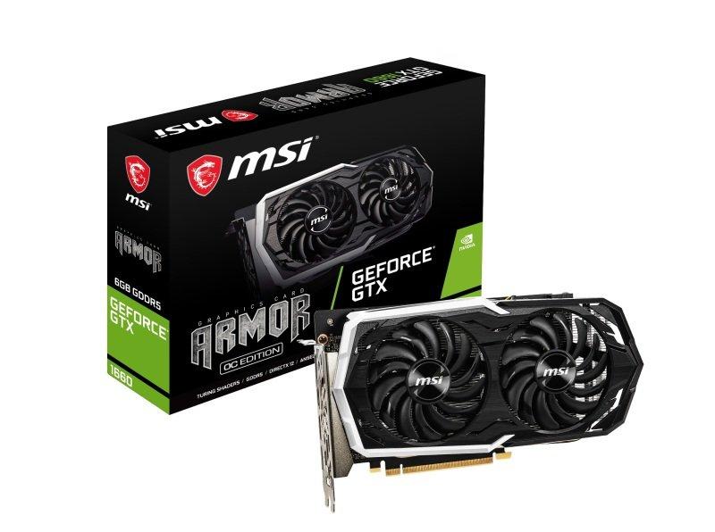 MSI GeForce GTX 1660 ARMOR 6GB OC GDDR5 Graphics Card