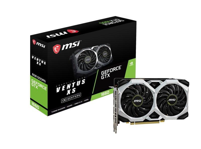 MSI GeForce GTX 1660 VENTUS XS 6GB OC GDDR6 Graphics Card