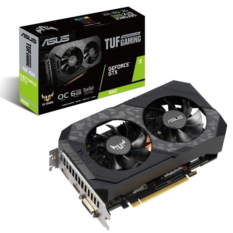 Asus GeForce TUF GTX 1660 OC 6GB GDDR5 Graphics Card
