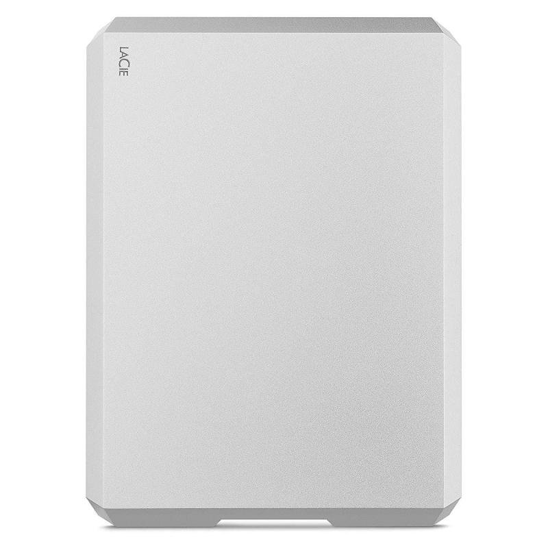 Image of LaCie 5TB Mobile Drive USB-C + USB 3.0 Portable External Hard Drive for PC and Mac (Moon Silver)