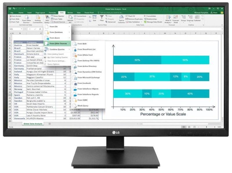 """LG 24BK550Y 23.8"""" Full HD IPS Monitor"""