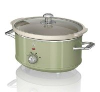 Swan Sf17031gn 6.5l Slow Cooker Retro Green