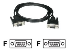 C2G, DB9 F/F Null Modem Cable Black, 5m