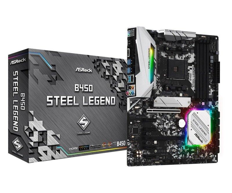 ASRock B450 Steel Legend AM4 DDR4 ATX Motherboard