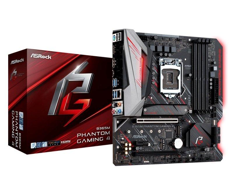 ASRock B365M Phantom Gaming 4 LGA 1151 DDR4 mATX Motherboard