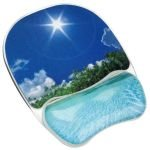 Fellowes Photo Gel Mouse Pad Wrist Support - Beach