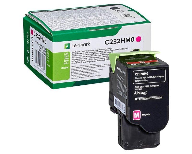 Lexmark C232HM0 Magenta High Yield Return Programme Toner Cartridge